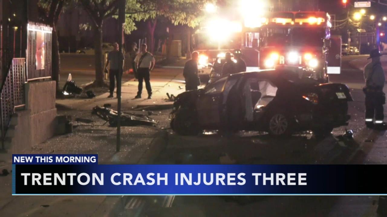 3 injured in Trenton crash