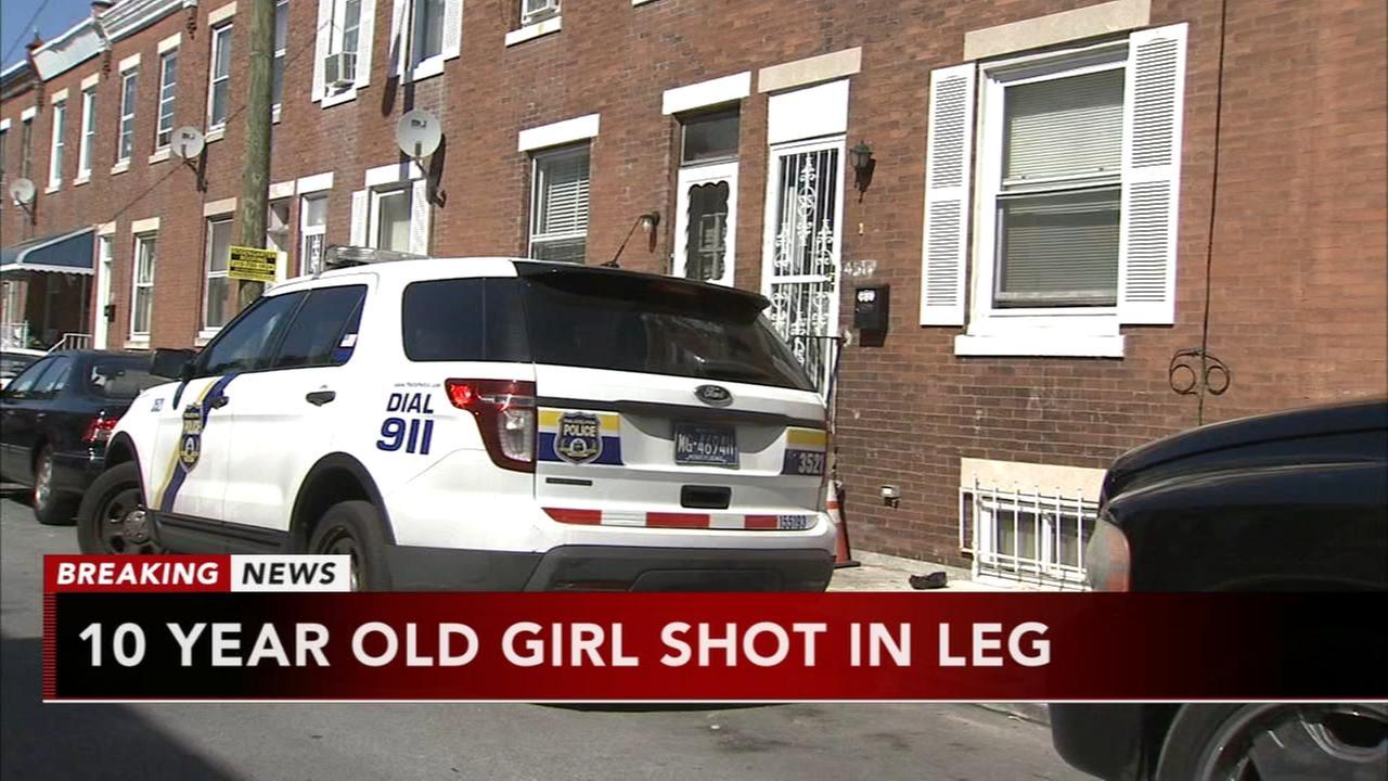 10-year-old girl shot in leg