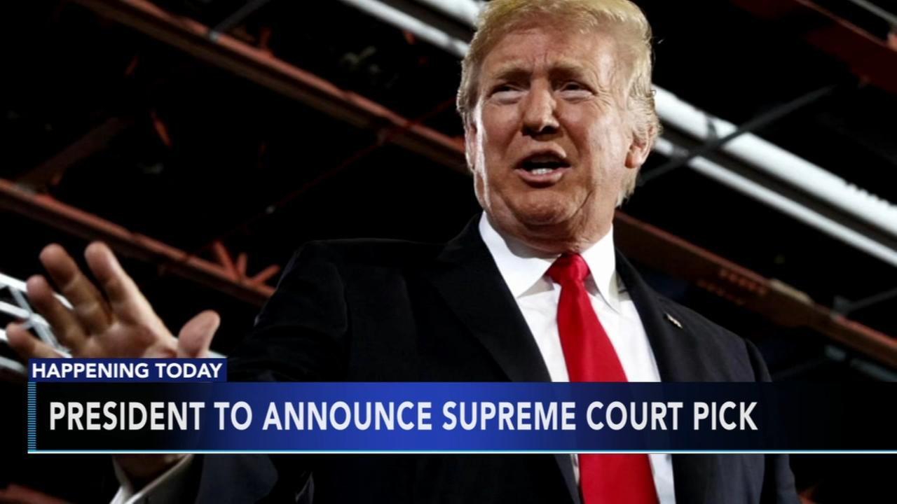 President Trump to announce Supreme Court pick