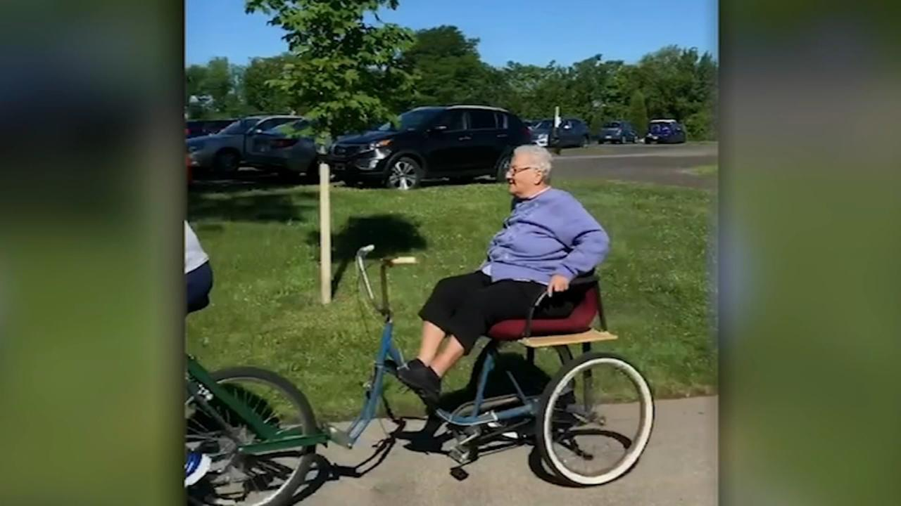Local Mom-Mom gets first bike ride at 88