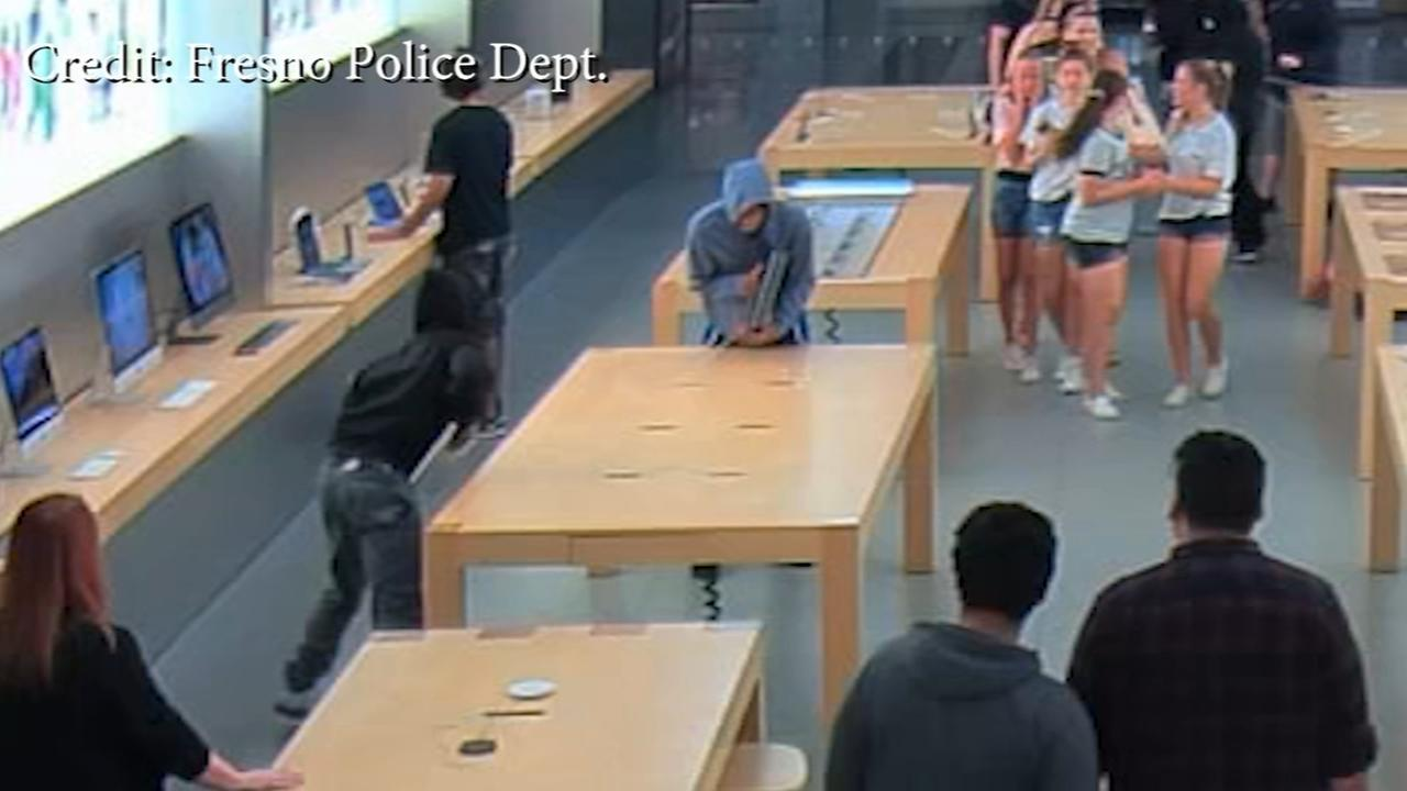 Quick moving thieves steal from Apple Store