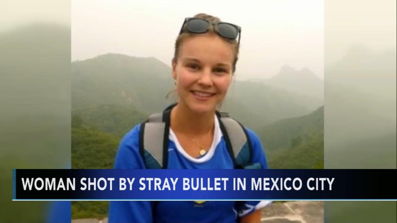 Woman shot and killed by stray bullet in Mexico