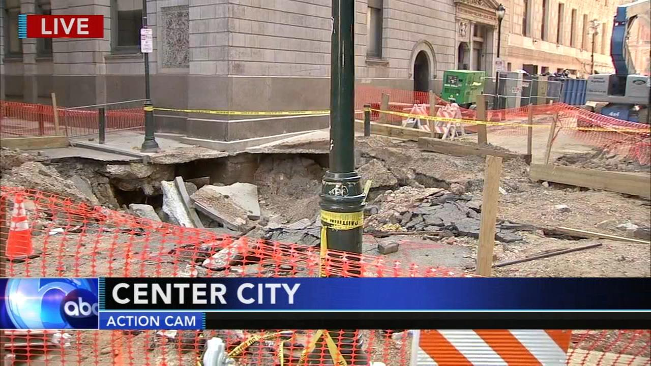 Cleanup, repairs continue after massive Center City water main break