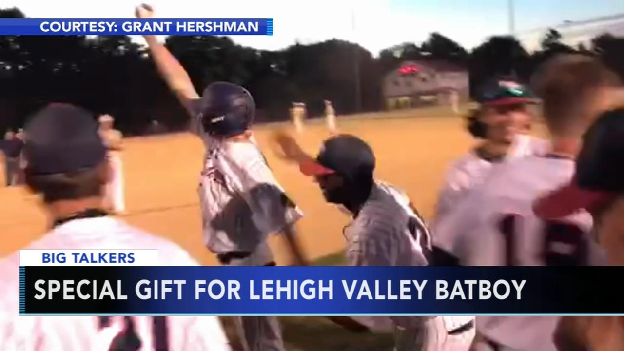 Bat boy with special needs gets memorable first at bat