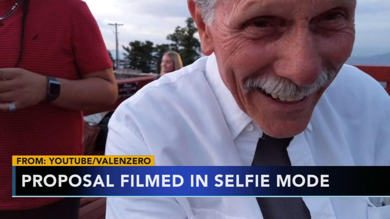 Man accidentally records proposal in selfie mode