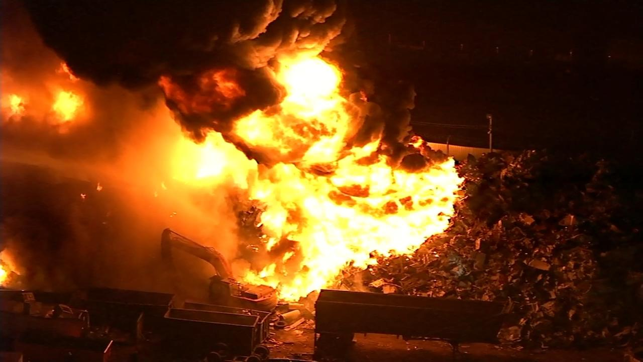 Phila. firefighter injured in fall battling 4-alarm fire
