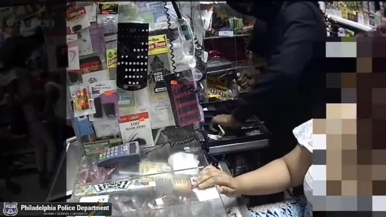 Grocery store robbery caught on camera