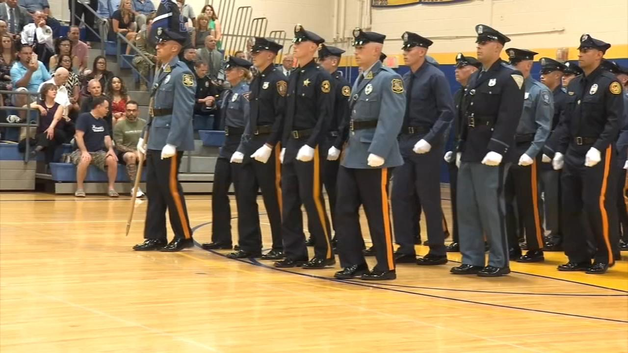Proud moment for dozens of Police families in Sewell, N.J.