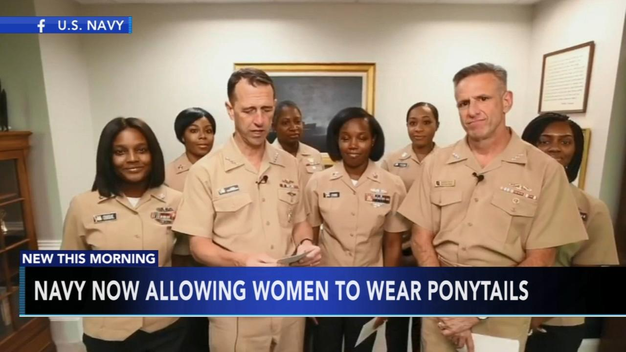 Navy changes hair policy