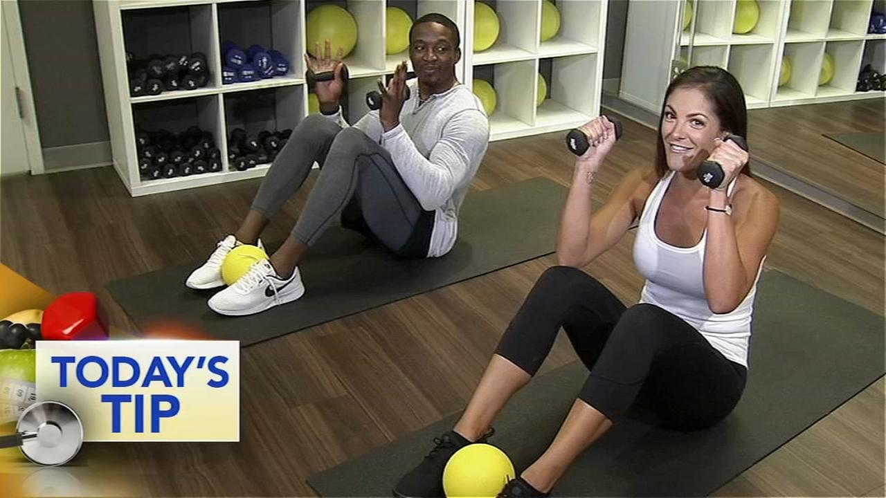 Ab workout with boxing twist - Todays Tip