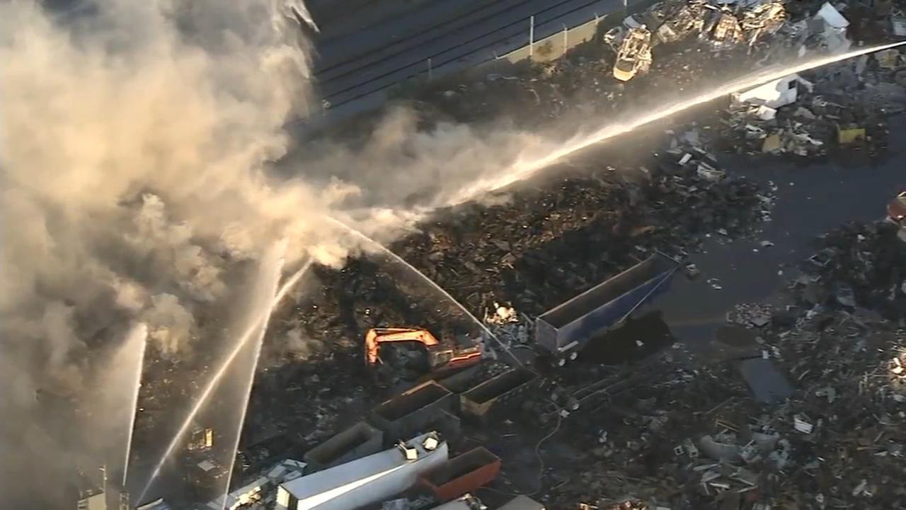 Air quality in question following Kensington junkyard fire