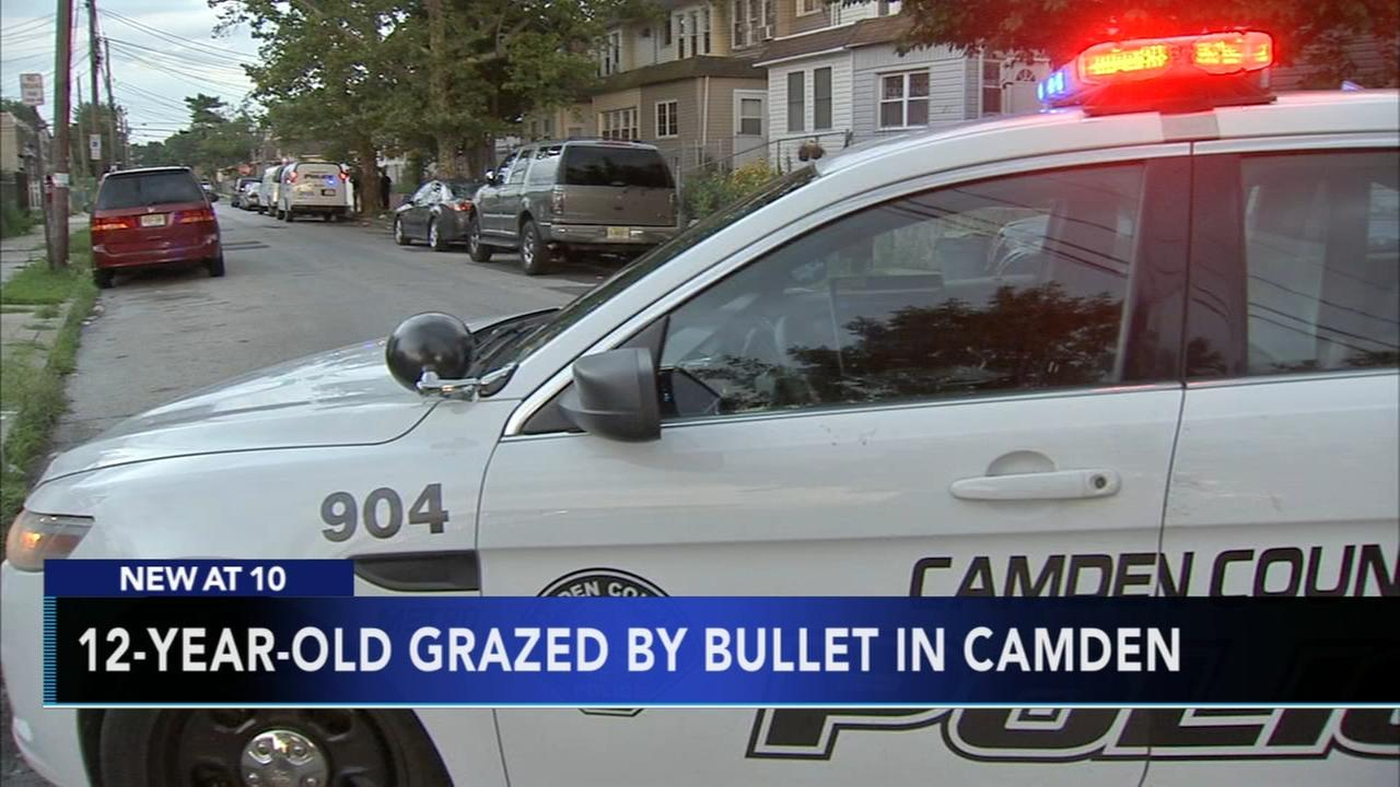 12-year-old boy grazed by bullet in Camden