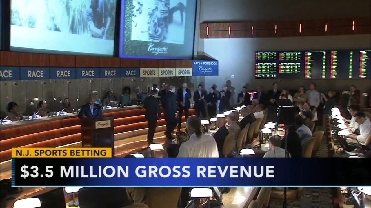 New Jersey businesses get $16M in sports bets in 1st 2 weeks