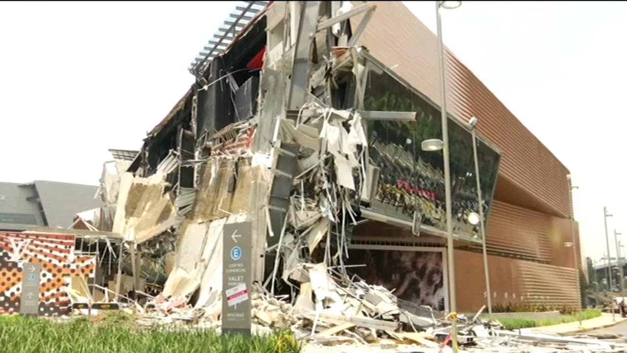 Newly opened shopping mall partly collapses in Mexico City