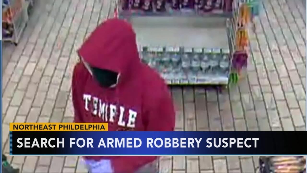 Search for armed robbery suspect in NE Philadelphia