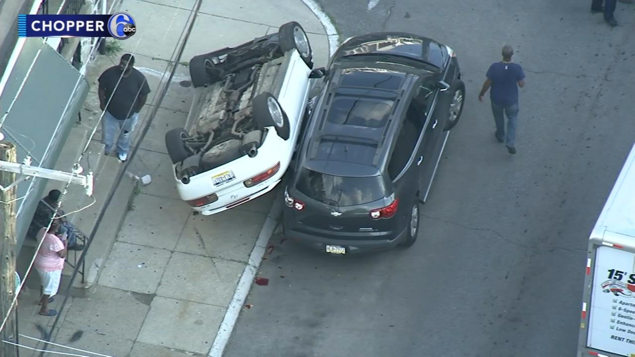 Suspected drunk driver hits several parked cars in Brewerytown