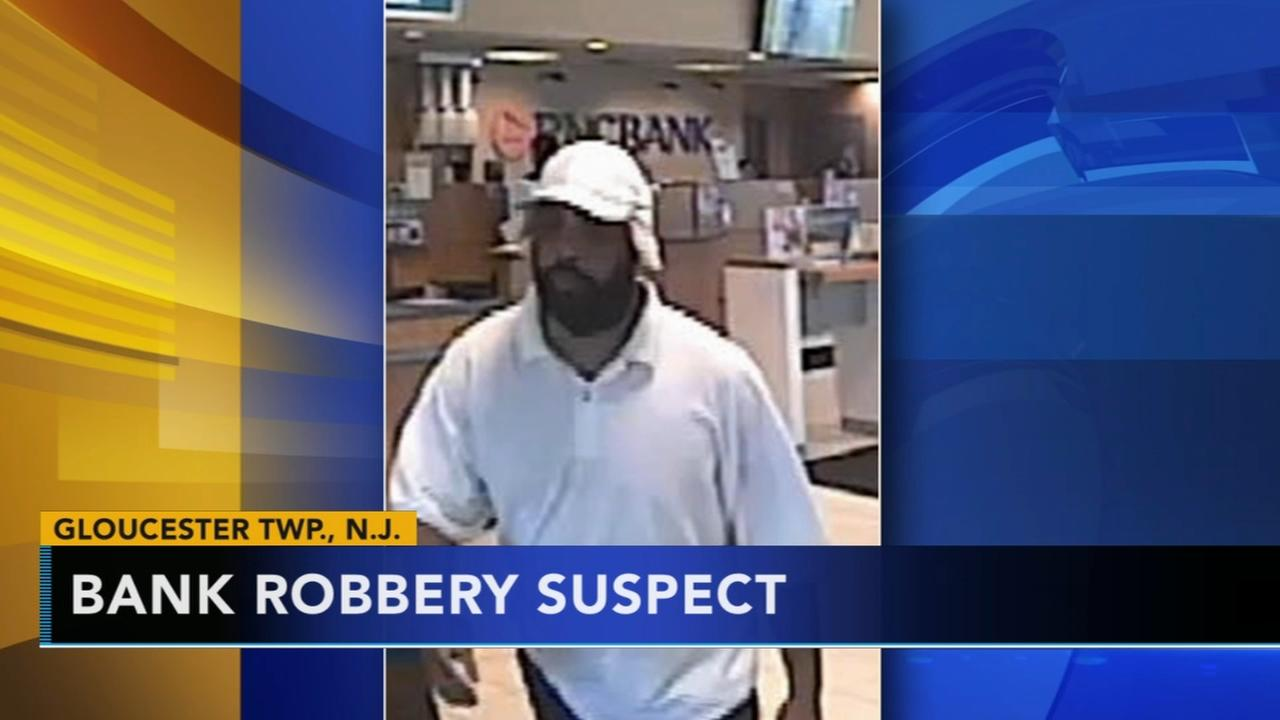 Man sought for allegedly robbing a PNC bank in Gloucester Township