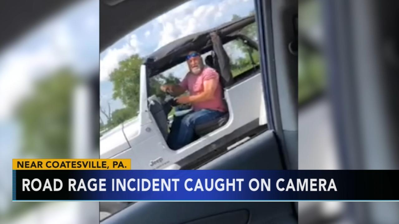 Road rage incident caught on camera in Coatesville
