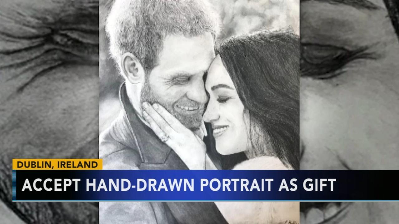 Girl from Dublin gifts Prince Harry and Meghan Markle beautiful hand-drawn photo