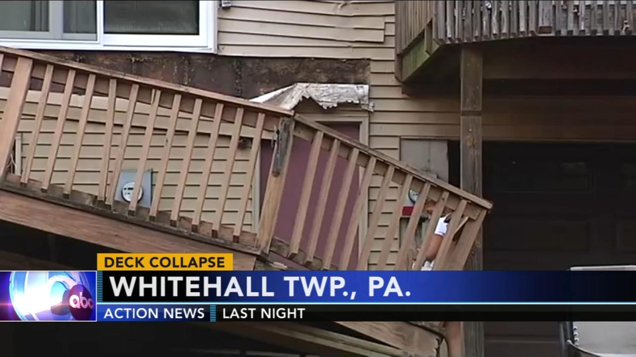 10 hospitalized after partial deck collapse in the Lehigh Valley