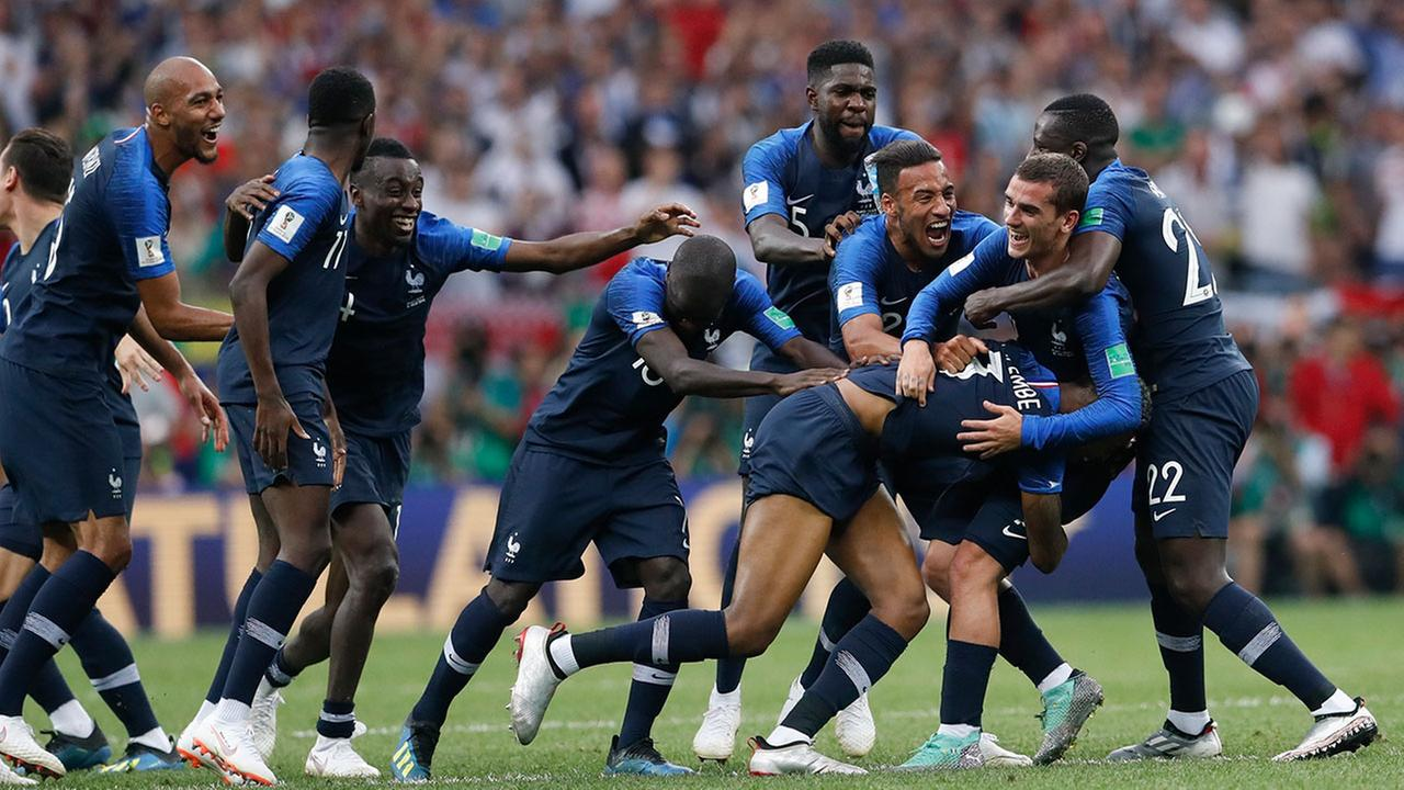 France won its second World Cup title by beating Croatia 4-2 on Sunday in a match briefly interrupted by an on-field protest during the second half.