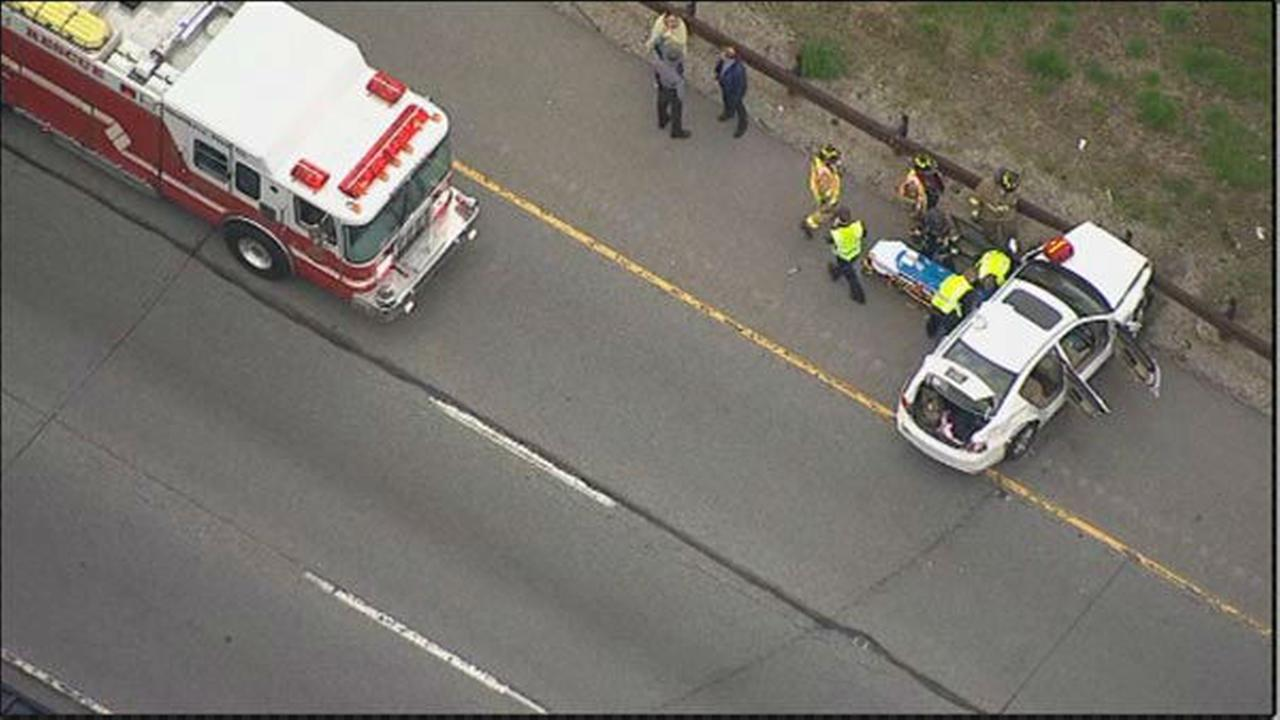 Multi-vehicle crash on Blue Route
