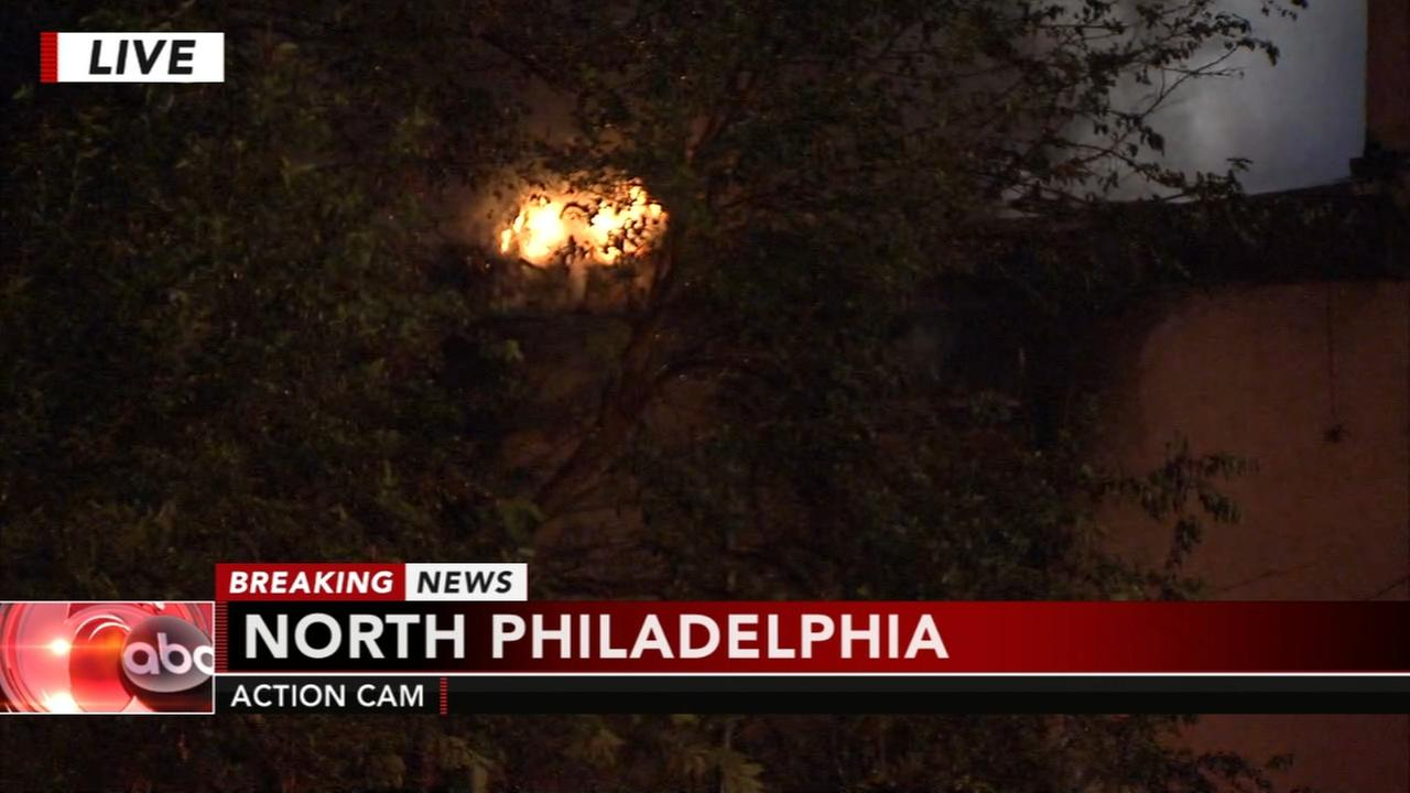 North Philly fire displaces horses from neighboring home
