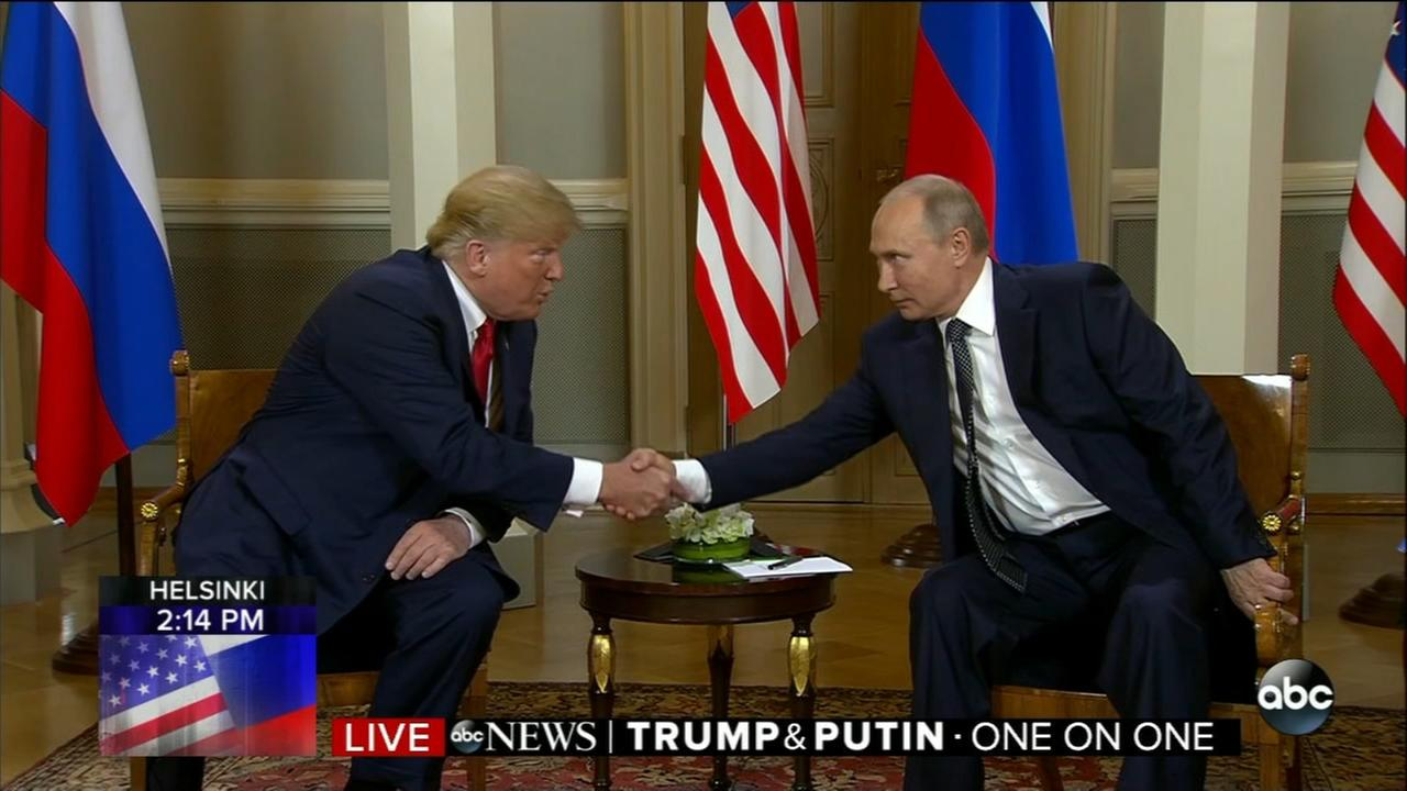 President Trump meets with Russian Pres. Putin