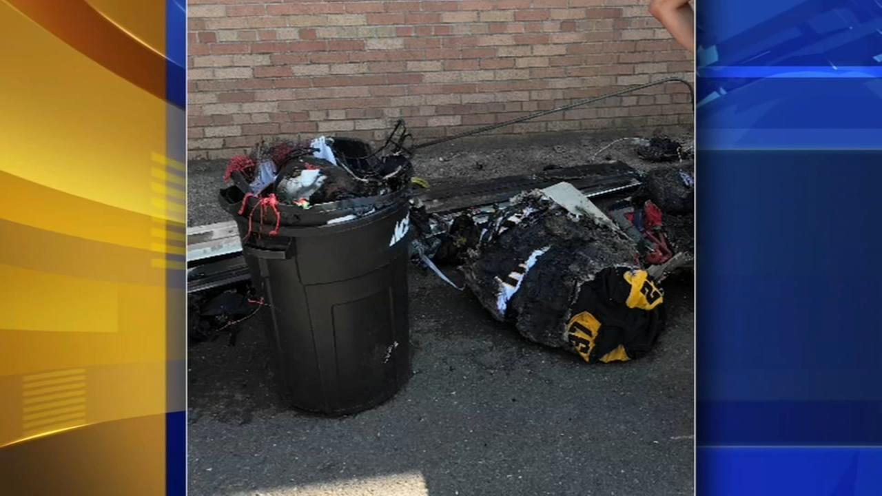 Fire destroys football gear at Archbishop Wood High School