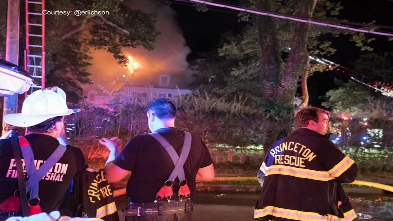 2 firefighters injured battling Princeton fire