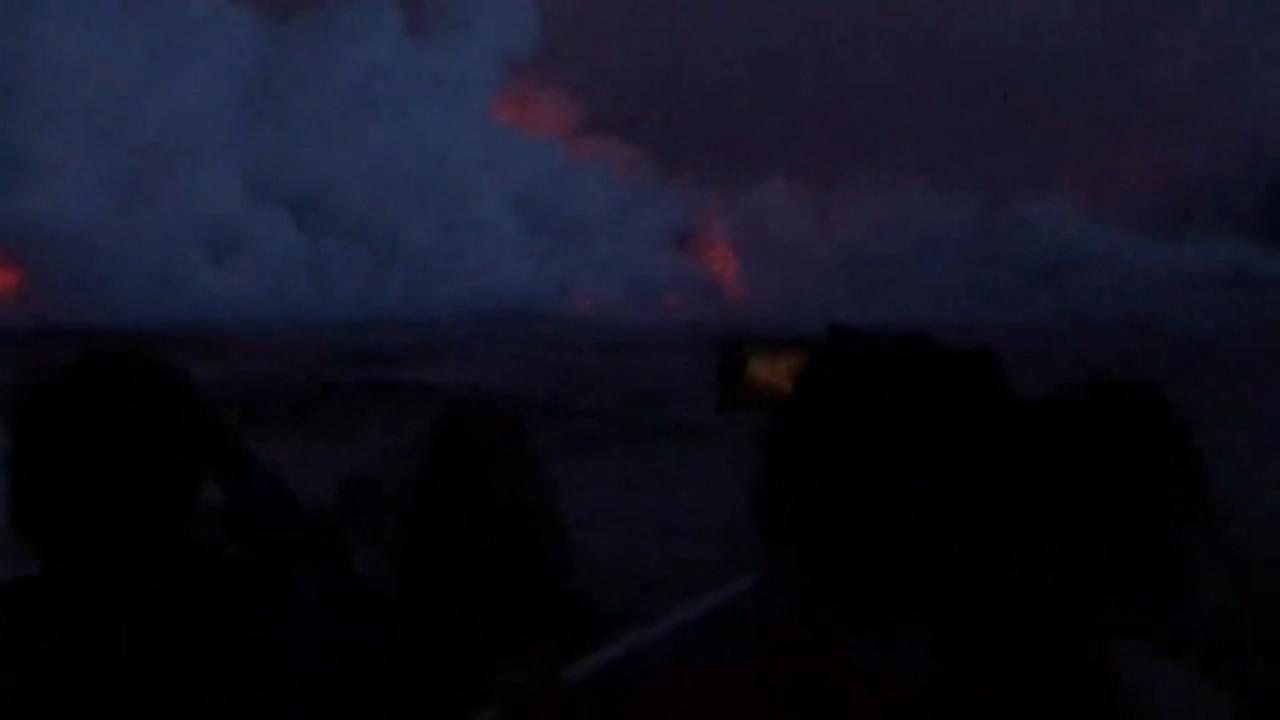 Lava bomb injures tour boat riders