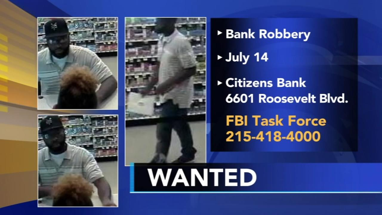 Police: Man sought for bank robbery in Acme store in Philly