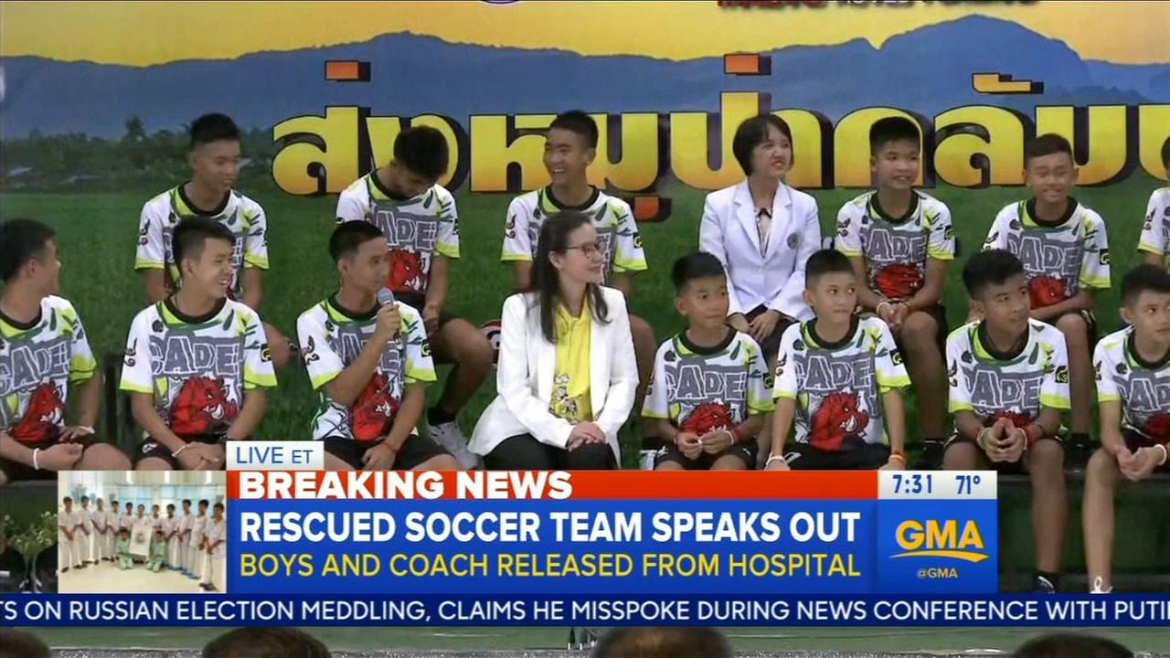 Rescued soccer team speaks out