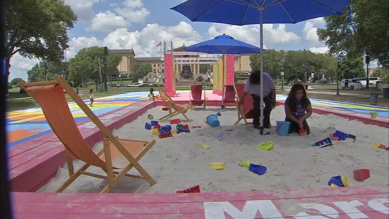 Eakins Oval gets artistic makeover for next 5 weeks