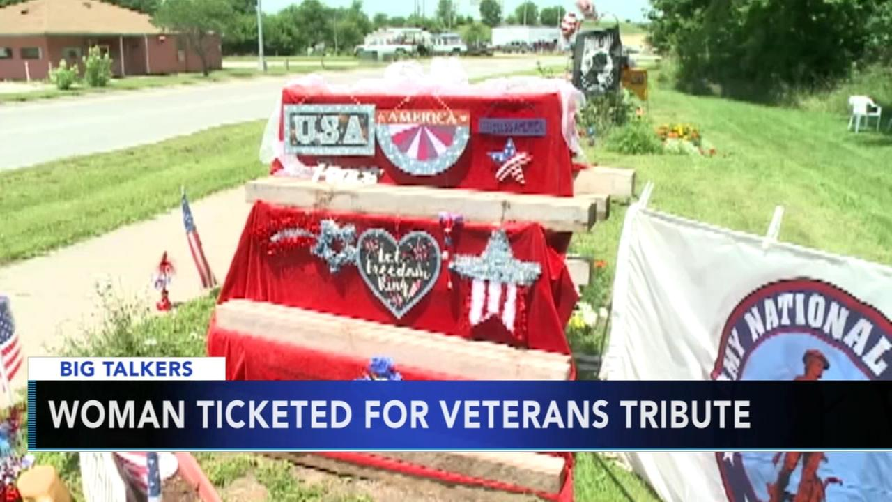 Iowa woman ticketed for veterans tribute