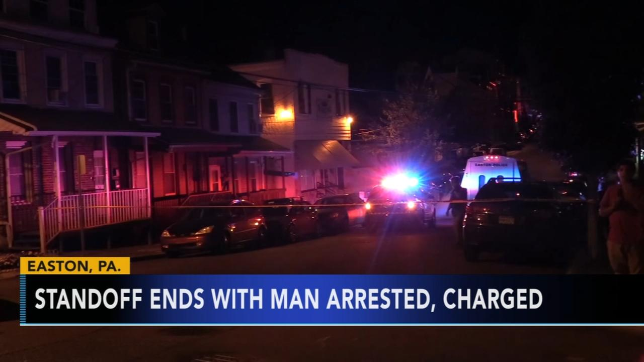 Easton man arrested following standoff with police
