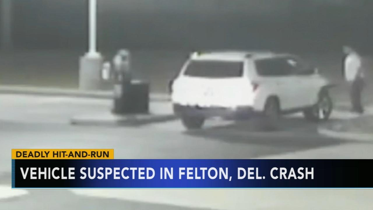 Video shows suspect sought for fatal hit-and-run in Felton, Delaware