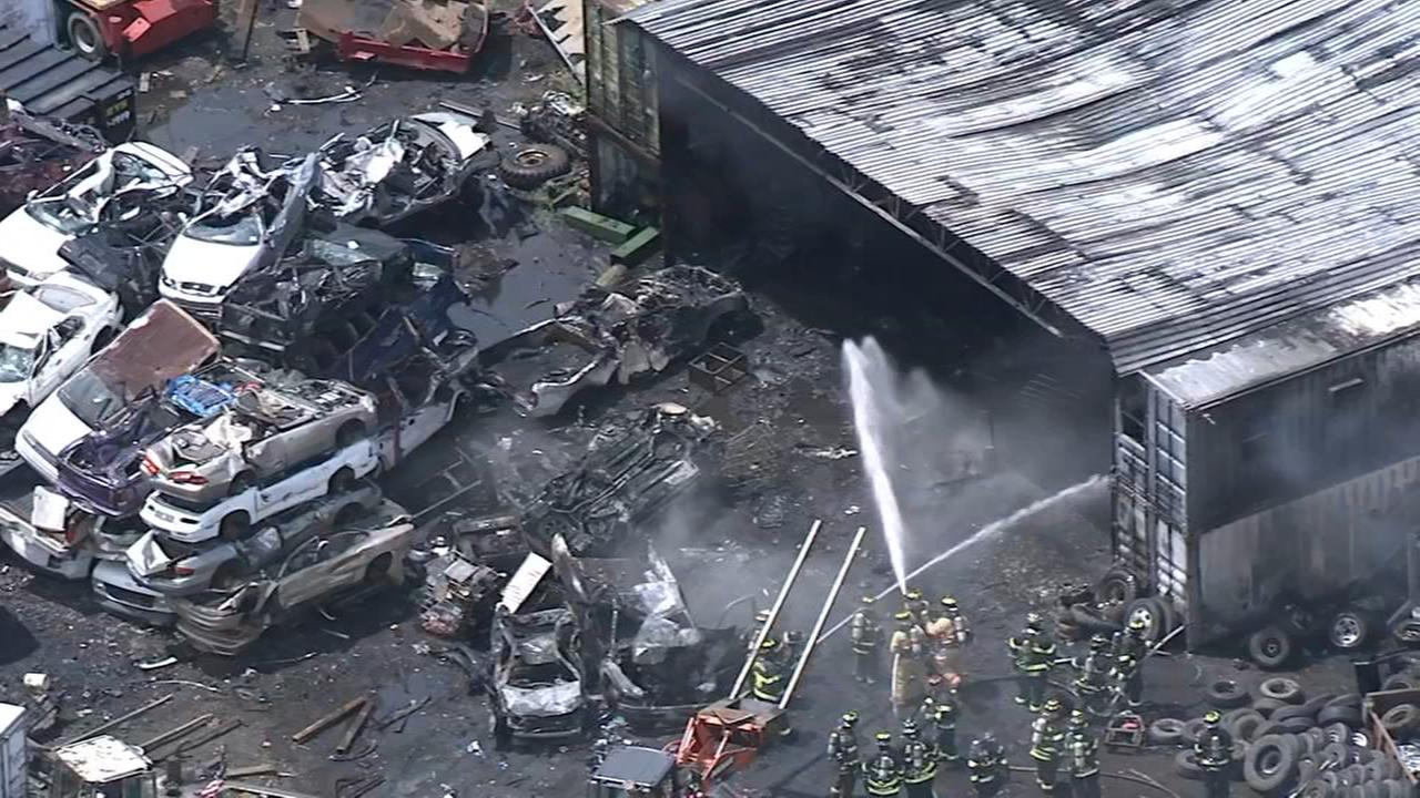 Fire torches junkyard in Burlington County