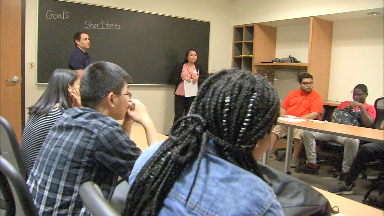 High School interns spend time learning how to balance a budget