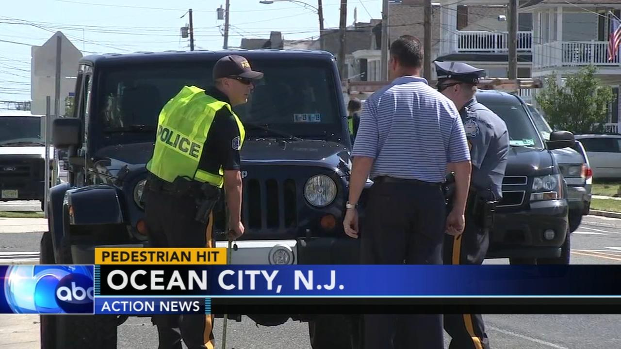 Pedestrian struck by vehicle in Ocean City