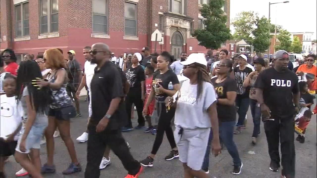 Residents march to stop the violence in Philadelphia