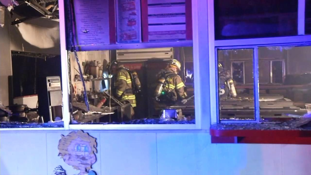 Delaware ice cream shop heavily damaged by fire