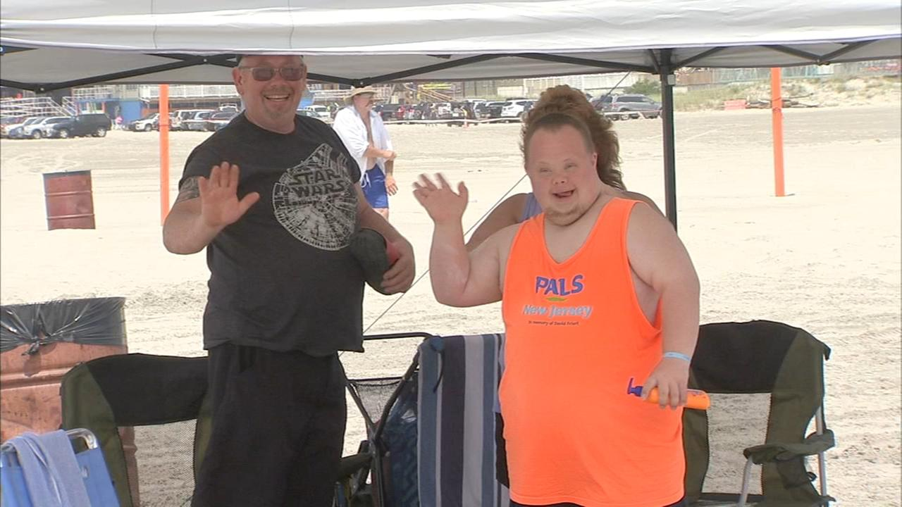 Wildwood lifeguards show some special students how to have a great day at the beach
