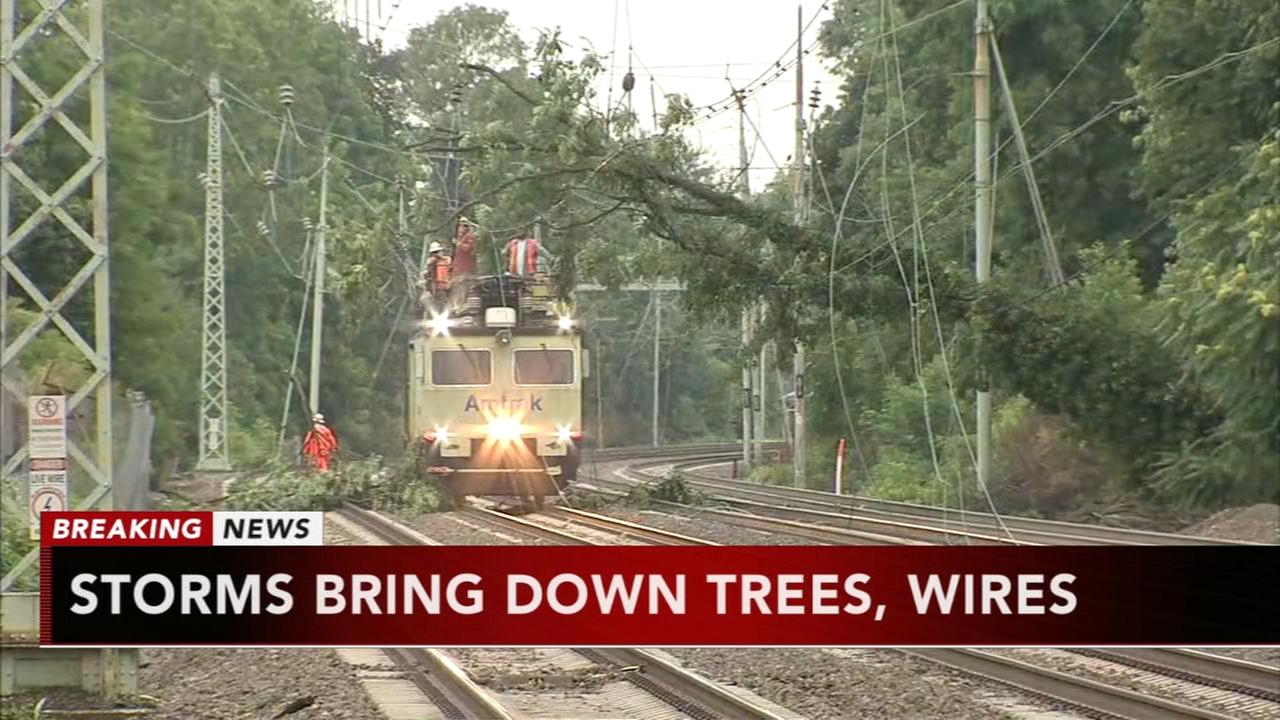 Paoli-Thorndale regional rail line suspended due to down trees, wires