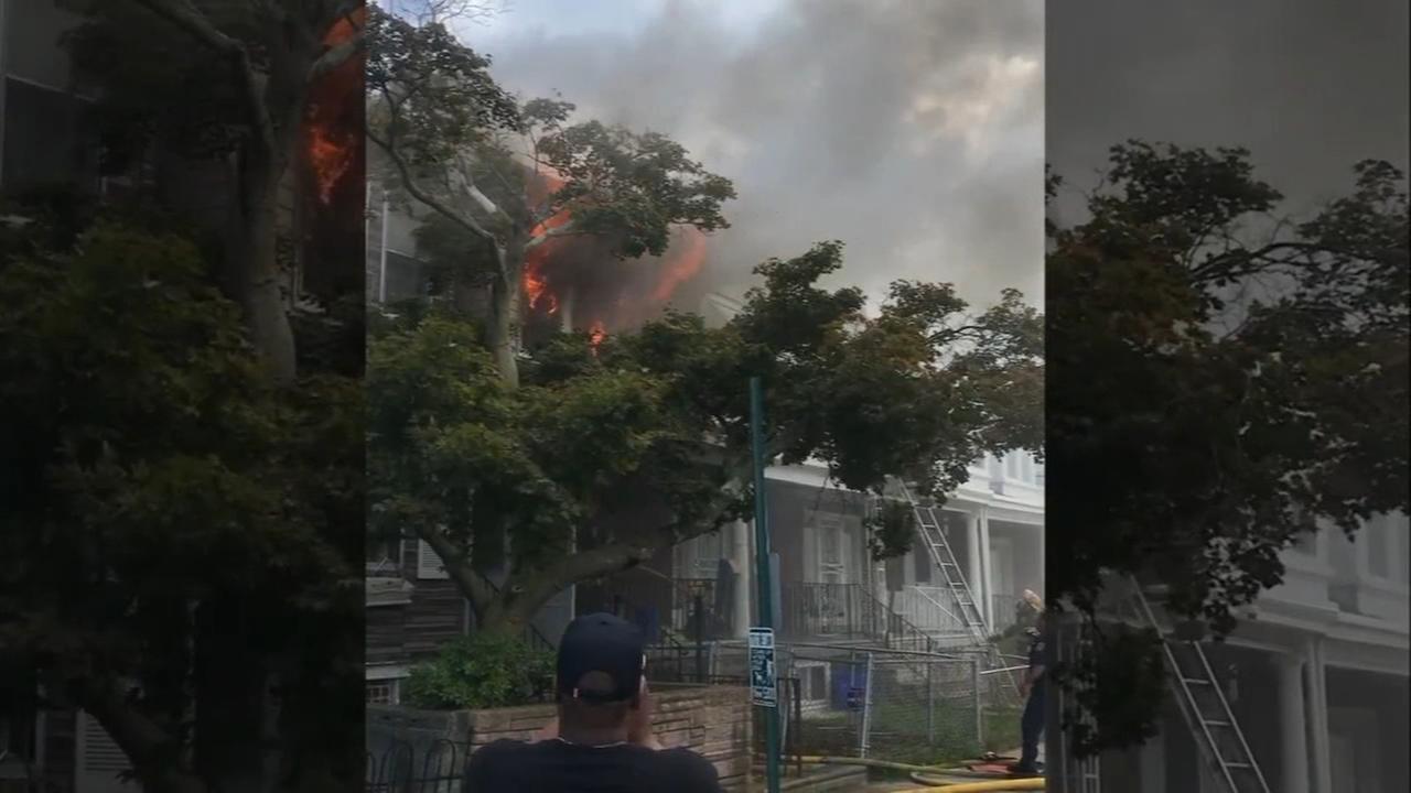 2 firefighters injured battling West Oak Lane rowhome fire