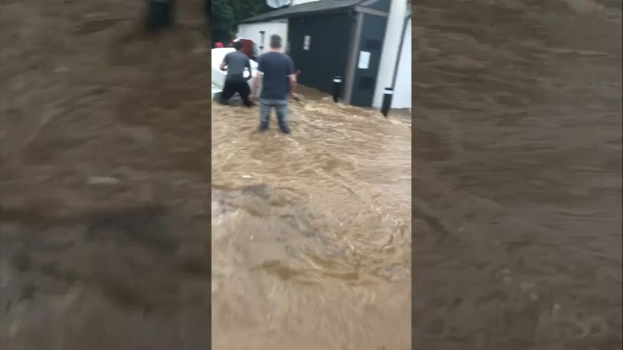 Chester County flash flood