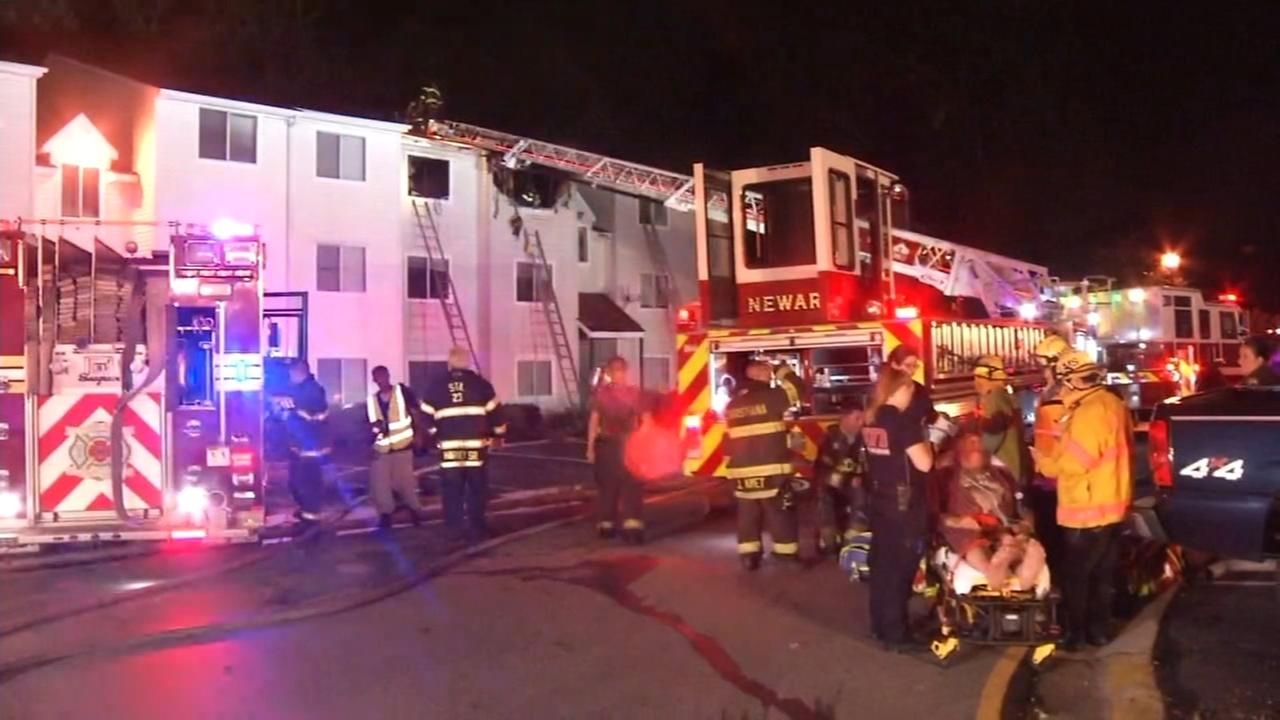 Firefighter, resident injured in Del. fire