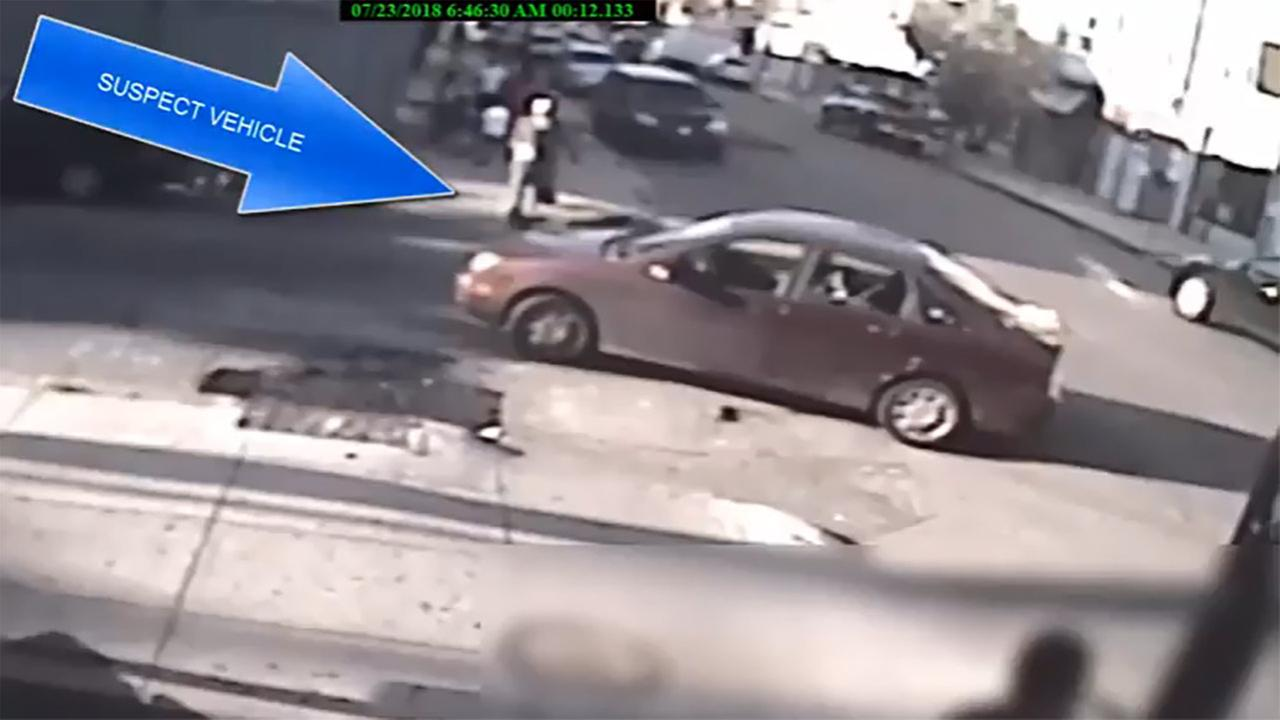 This image from surveillance video shows a vehicle being sought in connection with a home invasion and sex assault of an 82-year-old woman in West Philadelphia on July 19, 2018.