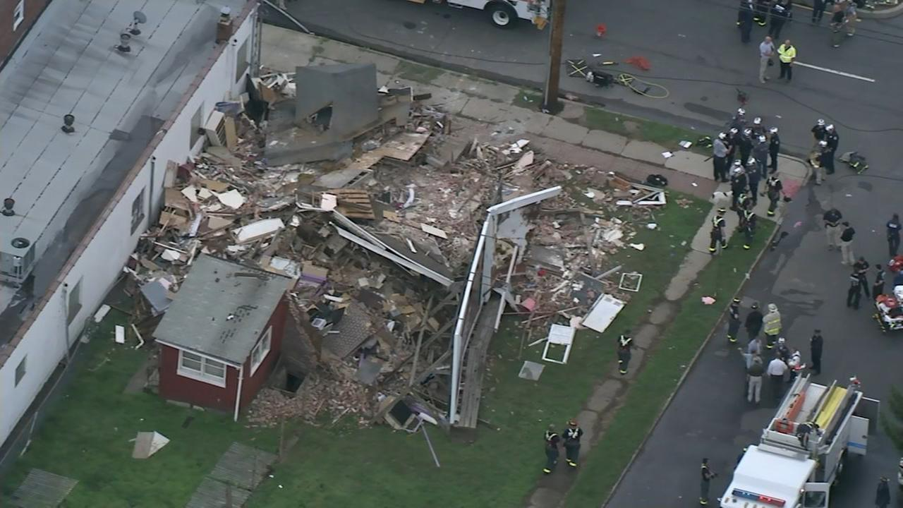 Chopper 6 over house collapse in Mercer County