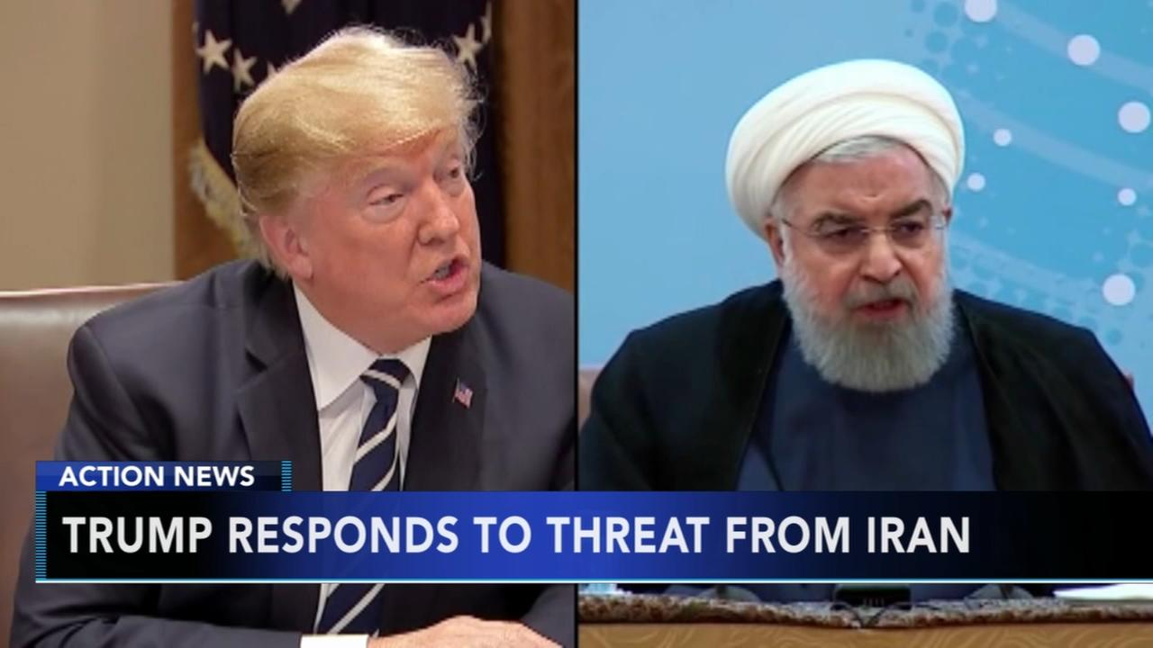 White House blames Iran for war of words with Trump